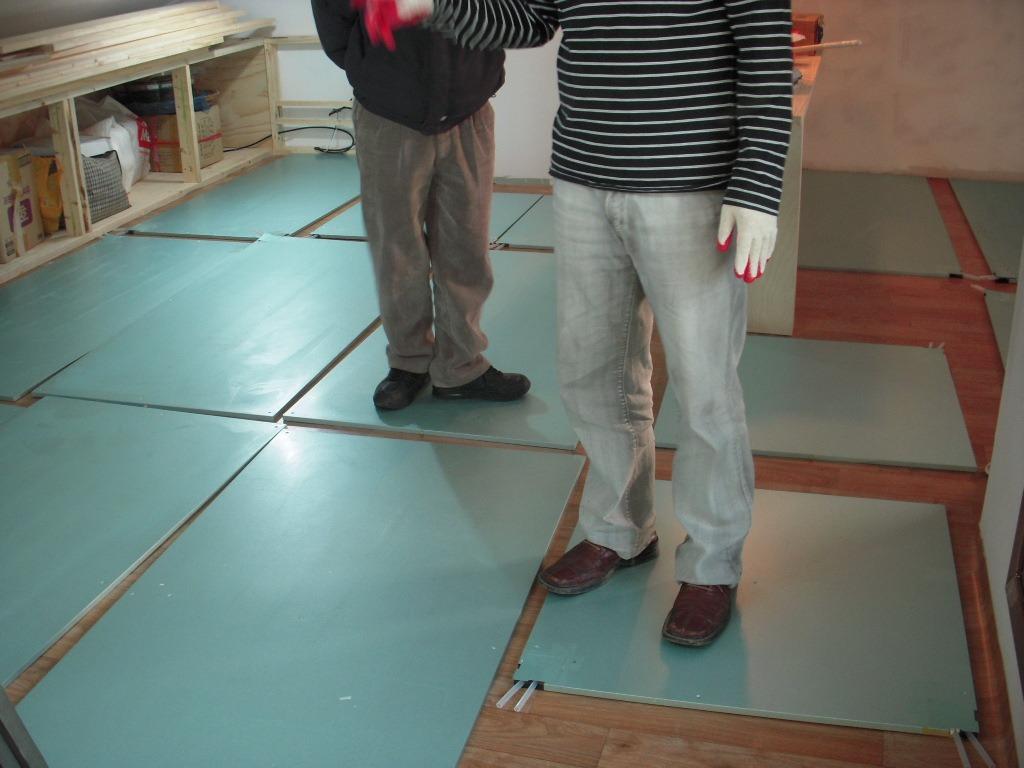 Теплый пол на основе пенополиуретановых плит