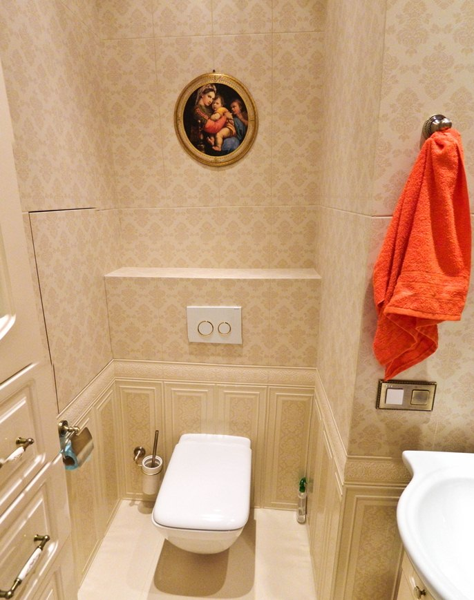Туалет с инсталляцией дизайн фото