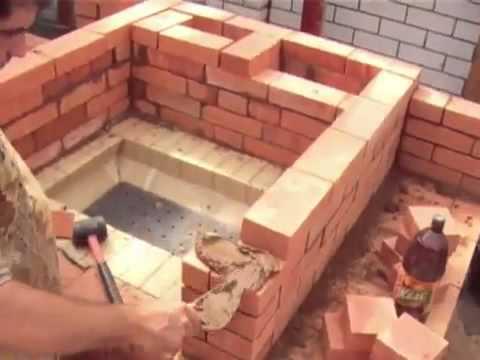 Как сделать камин из кирпича видео