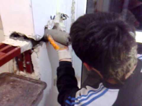 как заполнить дырку в стене раствором