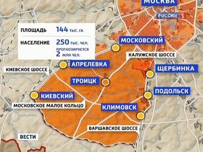 Активная застройка новых территорий столицы в 2013 году