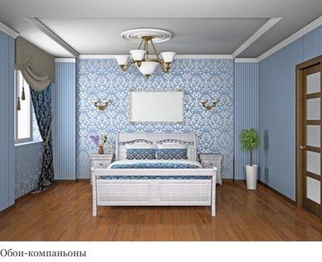 Дизайн комбинированных обоев для спальни