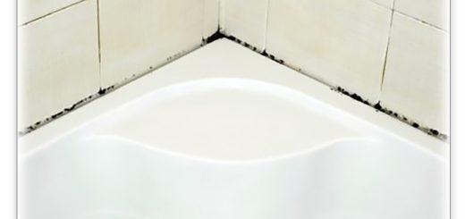 удалить плесень в ванной