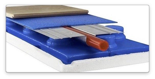 водяной теплый пол - без бетонная установка