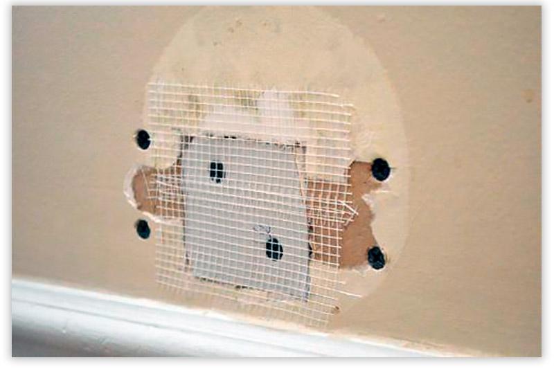 заделать дыру в стене из гипсокартона