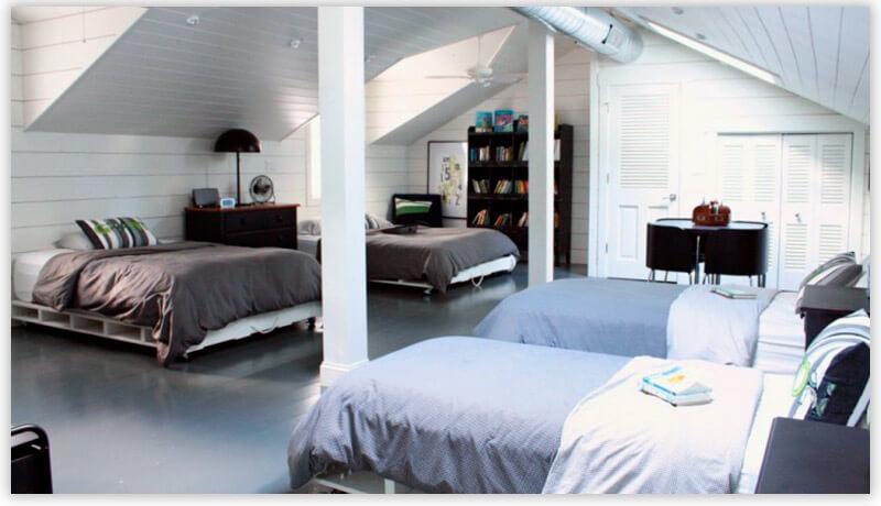 мебель из поддонов в общежитии