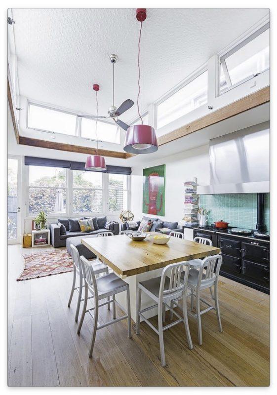 дизайн кухни-гостиной в стиле эклектика