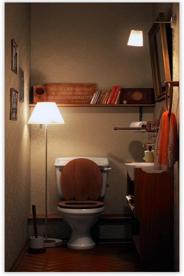 туалет маленького размера
