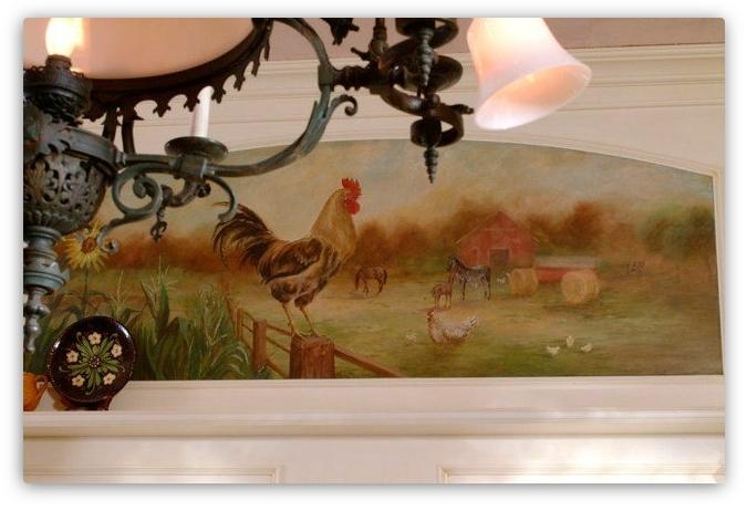 фреска в деревенском стиле