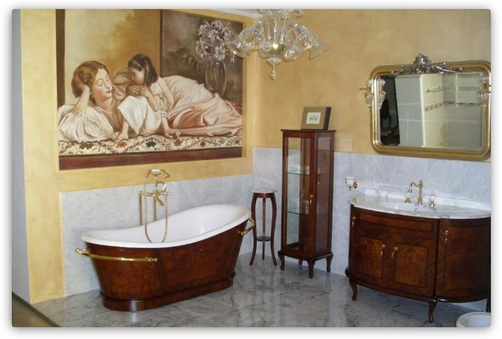 фреска в ванной в классическом стиле
