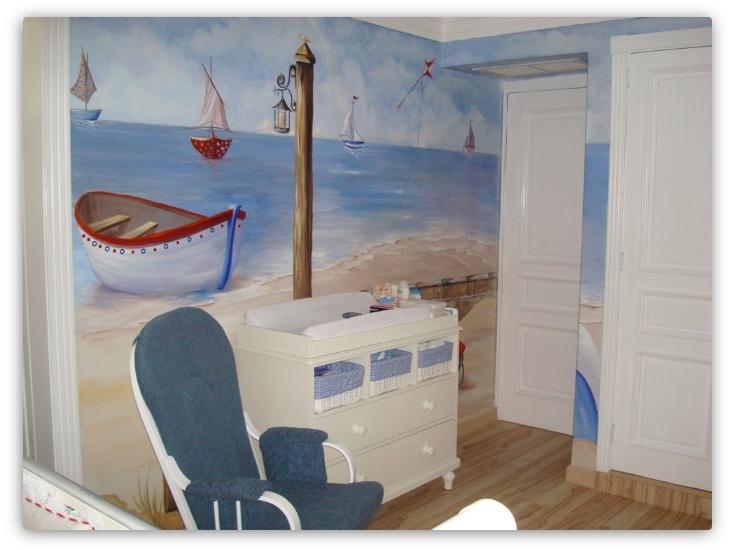 фреска в детской комнате