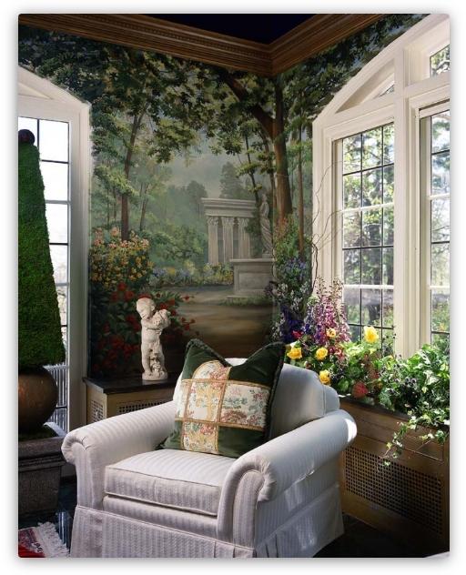 фреска удивительный сад