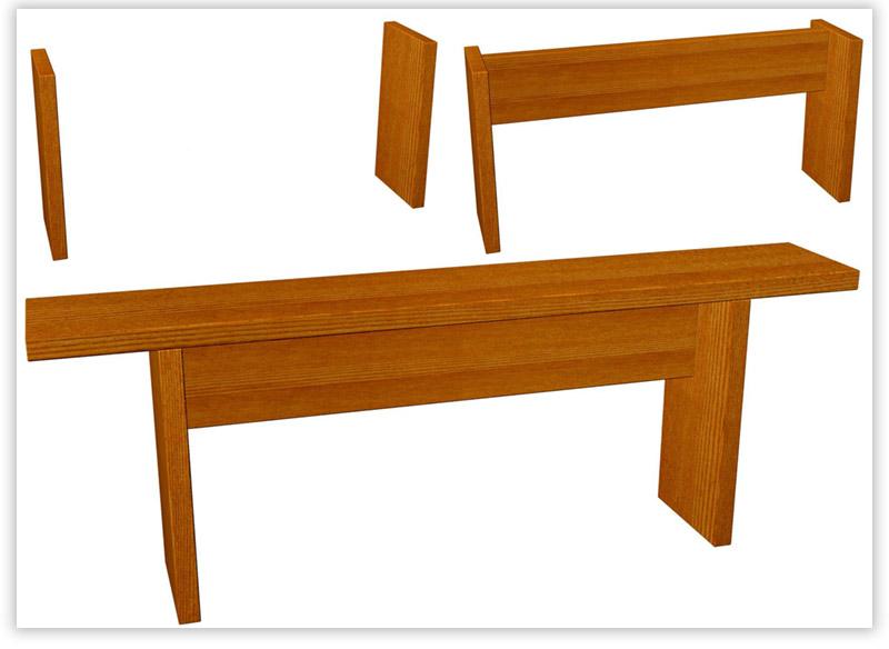 конструкция скамейки