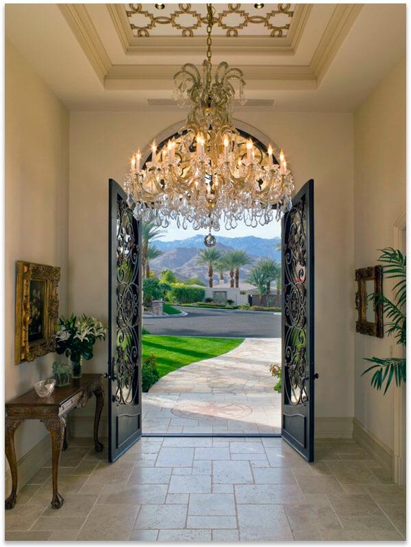 дверь художественная ковка