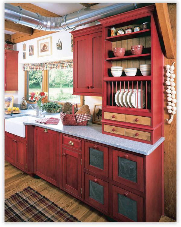 дизайн кухни в кантри стиле