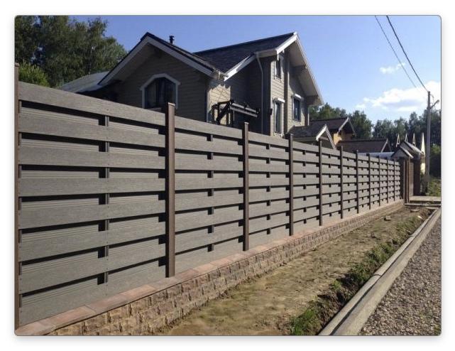 забор из доски дпк