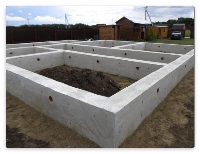 Глубина фундамента для двухэтажного дома - ленточный фундамент