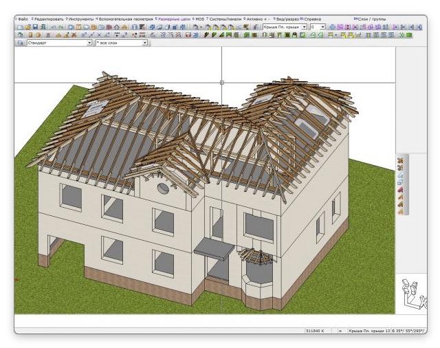 как рассчитать площадь крыши дома в программе