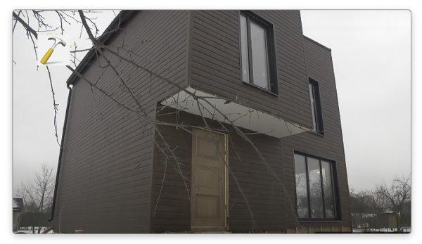 отделка фасада металлическим сайдингом