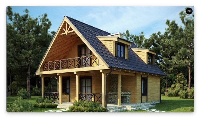 виды мансардных крыш с балконом
