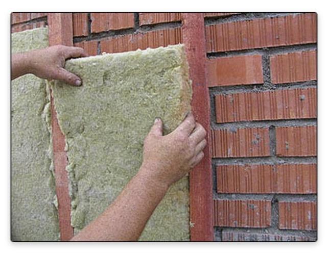 утеплить кирпичную стену минеральными утеплителями