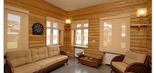 Отделка блок-хаусом внутри дома
