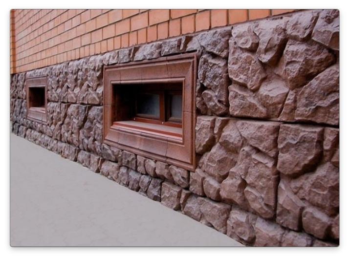 отделка дома из газобетона декоративным камнем