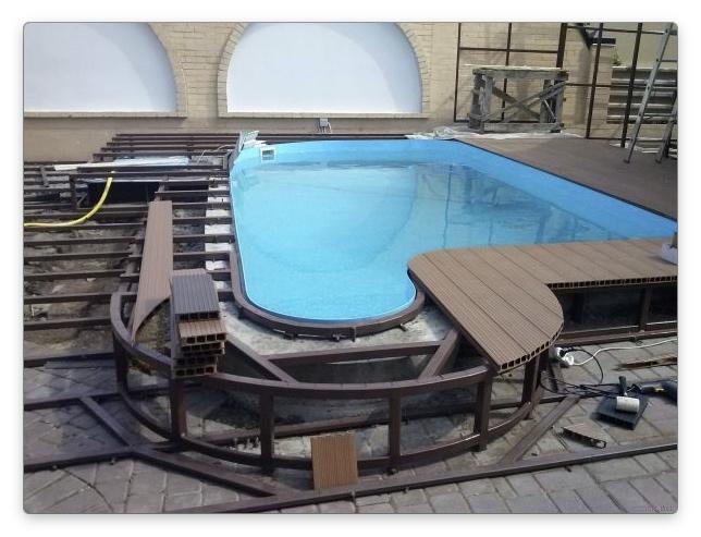 Террасные доски для бассейна