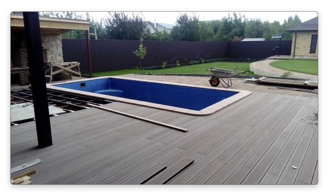 Террасная доска для бассейна
