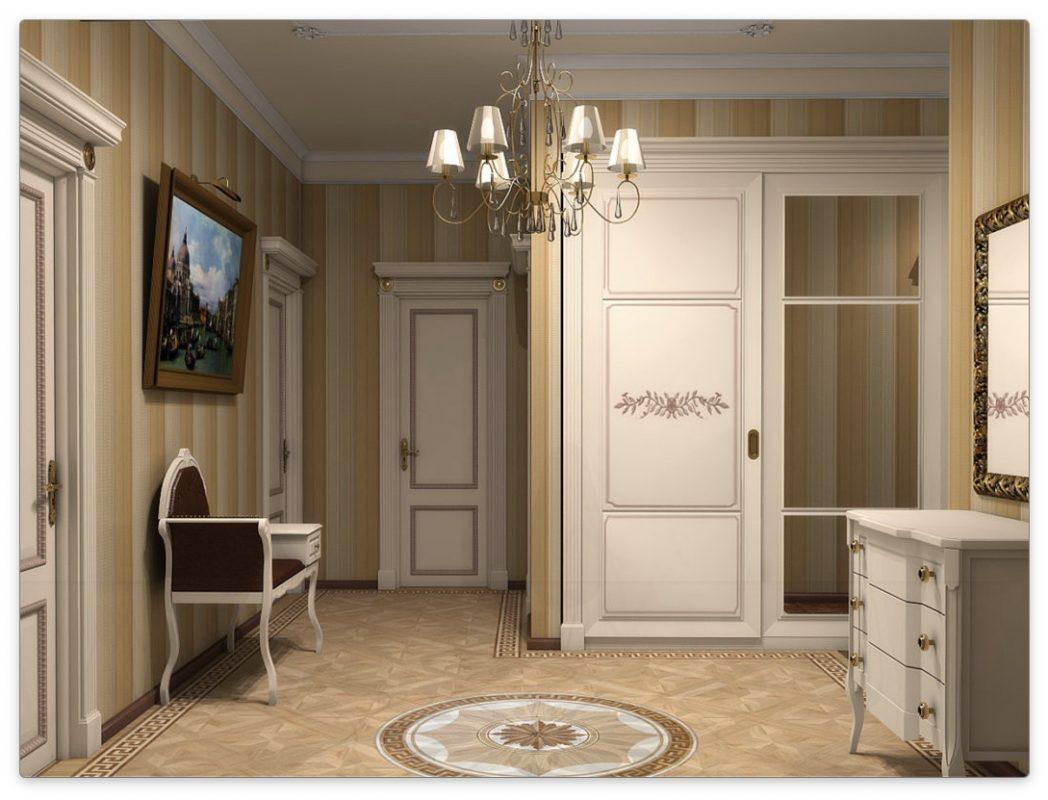 дизайн прихожей в квартире классика