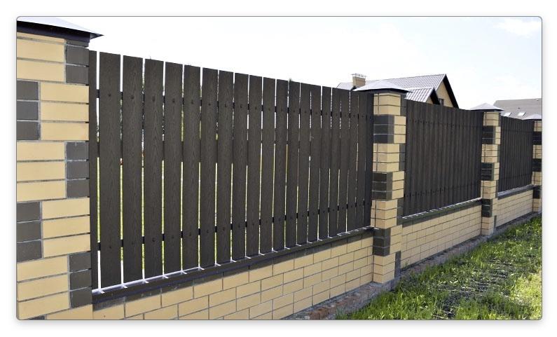 древесно-полимерный забор