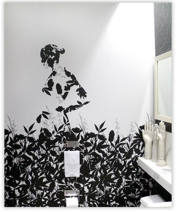 Фотообои в интерьере ванны
