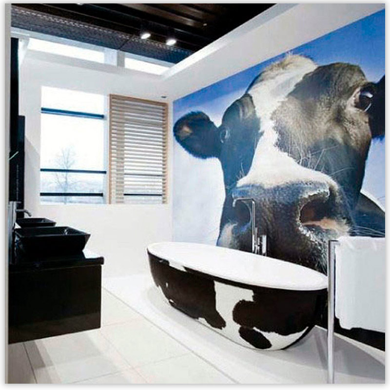 Фотообои в интерьере ванной