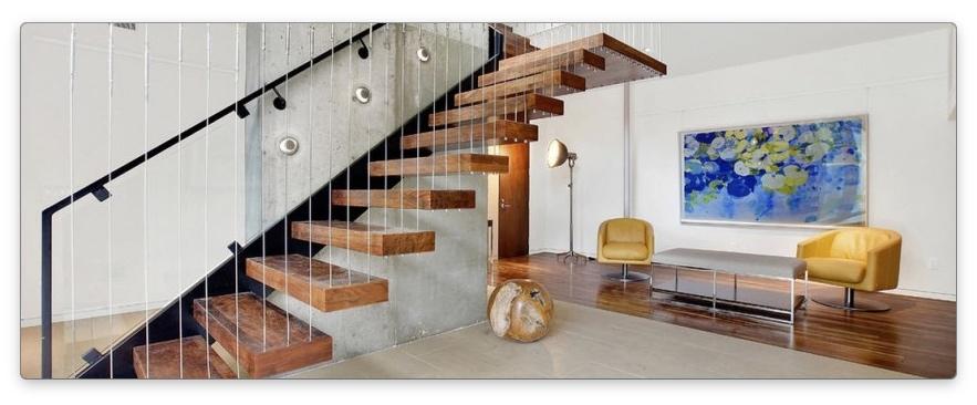 лестница на второй этаж минимализм