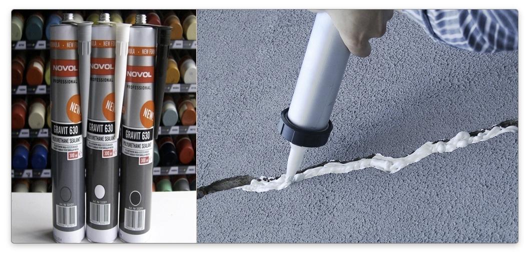 применение полиуретанового герметика