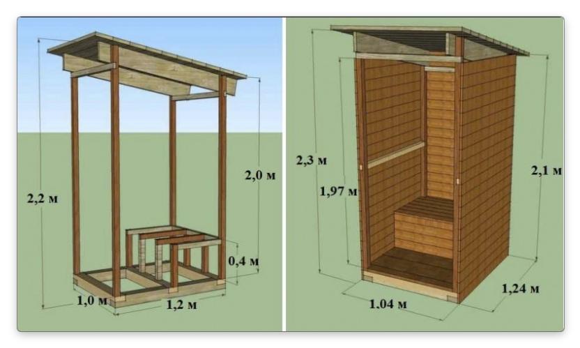 дачный туалет схема