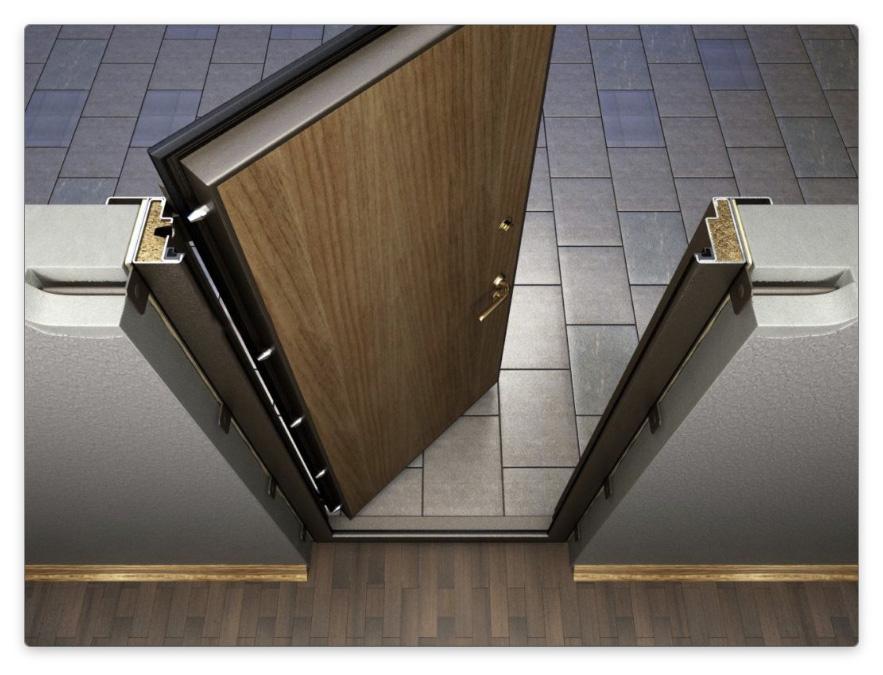 Уплотнитель металлической двери