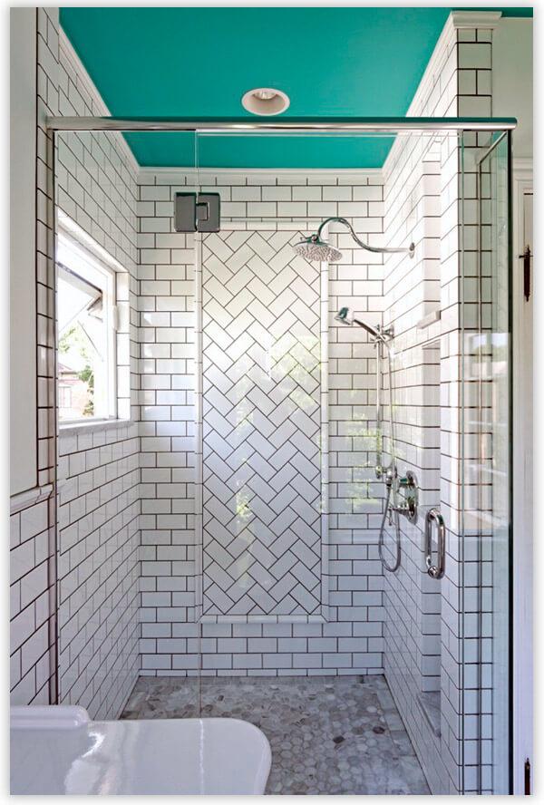 плитка для ванной комнаты белый и черный