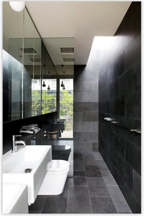 плитка для ванной комнаты черная