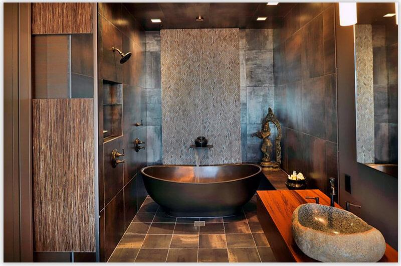 плитка для ванной комнаты под бронзу