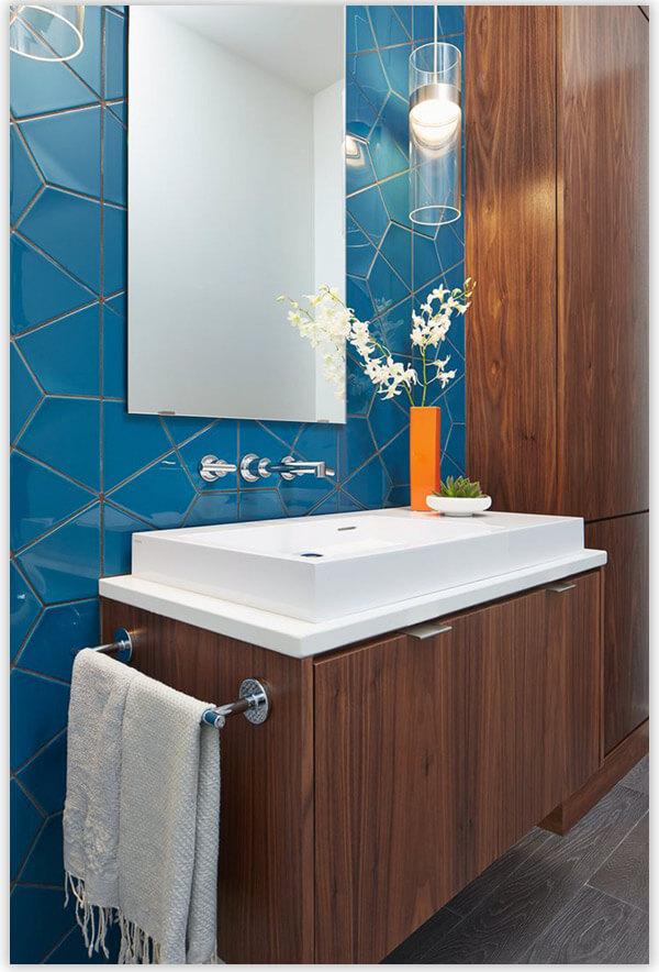 плитка для ванной комнаты геометрия