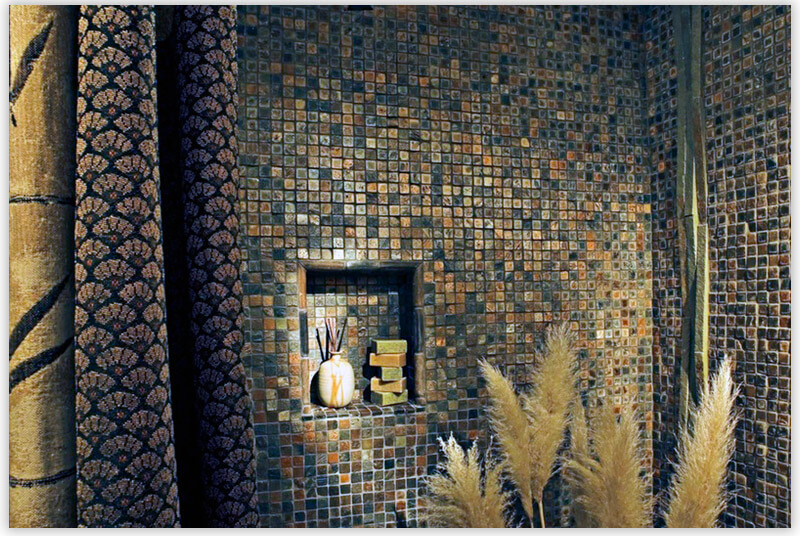 плитка для ванной комнаты восточный стиль