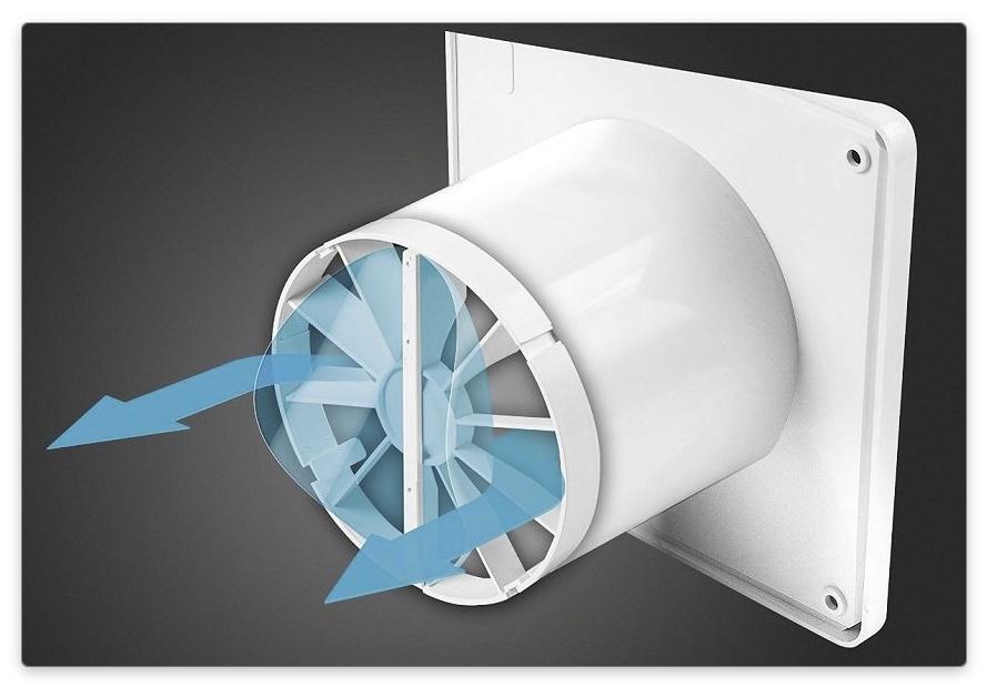 вентилятор с клапаном для вытяжки