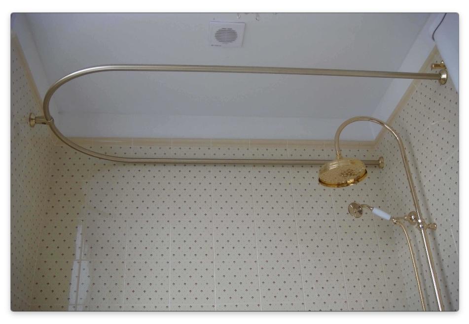 бронзвый карниз для ванной