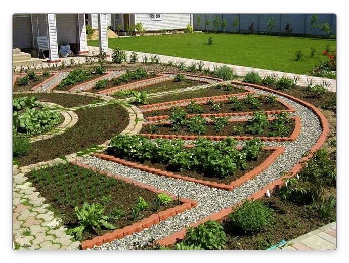 стандартная садовая грядка
