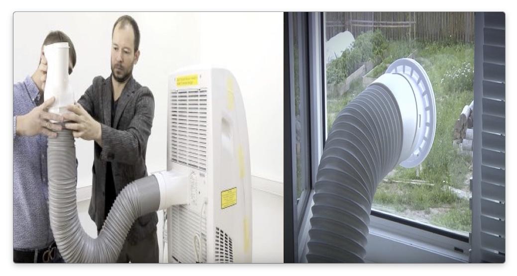 напольный кондиционер - воздуховод