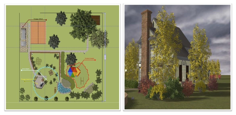 Программа для планировки участка Наш Сад Кристалл