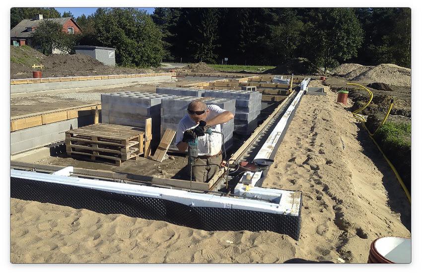 ленточный фундамент для строительства подвала