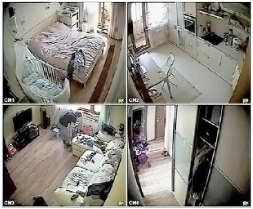изображение с четырех видео камер
