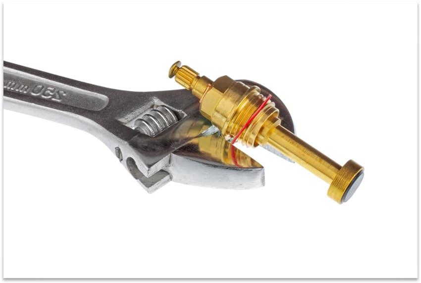кран-букса с резиновой прокладкой